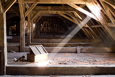 attic before  restoration
