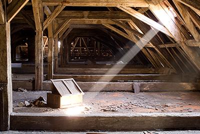 attic before  restoration